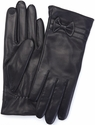Women's Medium Cellphone Tablet Touchscreen Gloves - Lambskin Leather - Black