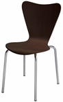 Wood Cafe Stack Chair in Espresso with Chrome Frame [3888-ES-IFK]