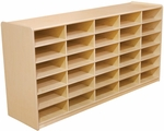 Storage Unit with (30) 3'' Letter Tray Slots - Fully Assembled on Casters - 58''W x 15''D x 30''H [17569-WDD]