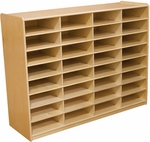 Wood Designs 3'' Letter Tray Storage Unit (32)slots without Trays [17489-WDD]