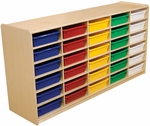 Wood Designs 3'' Letter Tray Storage Unit with (30) Assorted Trays [17563-WDD]