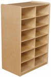 Storage Unit with (12) 5'' Letter Tray Slots - Fully Assembled on Casters - 24''W x 15''D x 38''H [18269-WDD]