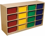 Wood Designs 5'' Letter Tray Storage Unit with (16) Assorted Trays [18443-WDD]