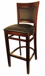 Wood Upholstered Back Barstool [8279B-HND]