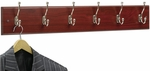 Six Hook 35.5'' W x 3.25'' D x 6.75'' H Wood Wall Rack - Set of Six - Mahogany [4217MH-FS-SAF]