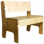 17.5''H Kids Wooden Bench [WBC0572-FS-ANA]