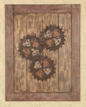 Weathered Wood and Interlocking Metal Cog 35.5''W Wall Decor - Brown [1213-FS-PAS]