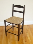 Wooden Back 24'' Bar Stool with Woven Seat [1224-FS-DIX]