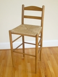 Wooden Back 30'' Bar Stool with Woven Seat [1230-FS-DIX]