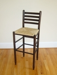 Wooden Ladder Back 30'' Bar Stool with Woven Seat [3330-FS-DIX]