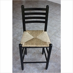 Wooden Ladder Back Chair with Woven Seat [33-FS-DIX]
