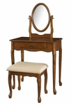 Woodland Oak Vanity, Mirror & Bench [604-510-FS-PO]