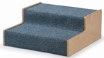 Carpeted Birch Woodscape Height Assisting Step Stool [WB1475-FS-WBR]