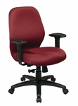 Work Smart 2-to-1 Synchro Tilt Managers Chair with Heavy Duty Adjustable PU Pads [3121-FS-OS]