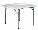 Work Smart 36'' Square Resin Folding Table with Powder Coated Frame [BT36-OS]