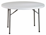 Work Smart 48'' Round Resin Multi-Purpose Folding Table with Powder Coated Frame [BT48Q-OS]