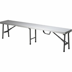 Work Smart 6' Fold in Half Bench with Powder Coated Frame - Grey [PC-15F-OS]