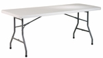 Work Smart 6' Light Weight Resin Multi-Purpose Folding Table with Powder Coated Frame [BT06Q-OS]