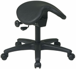 Work Smart Backless Stool with Saddle Seat - Black [ST203-FS-OS]