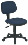 Work Smart Basic Armless Task Chair with Seat Height Adjustment and Casters [SC117-FS-OS]