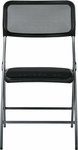 Work Smart Frame Folding Chair with Screen Seat and Back - Set of 2 - Black [FF-223012-OS]