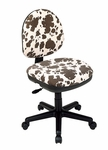 Work Smart Contemporary Armless Contour Padded Task Chair - Palomino Print [DH3400-243-FS-OS]