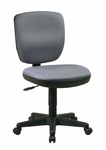Work Smart Contemporary Armless Task Chair with Lumbar Support and Casters [SC3014-FS-OS]
