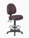 Work Smart Deluxe Ergonomic Drafting Stool with Flex Back and Adjustable Seat Height [DC940-FS-OS]