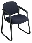 Work Smart Deluxe Padded Sled Base Arm Chair with Designer Plastic Shell Back [V4410-FS-OS]