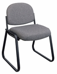 Work Smart Deluxe Padded Sled Base Chair with Designer Plastic Shell Back [V4420-FS-OS]