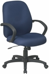 Work Smart Distinctive Executive Chair with Padded Contour Seat and Lumbar Support [EX2651-FS-OS]