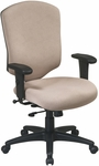 Work Smart Distinctive High-Back Executive Chair with Lumbar Support and Adjustable Seat Height [41572-FS-OS]