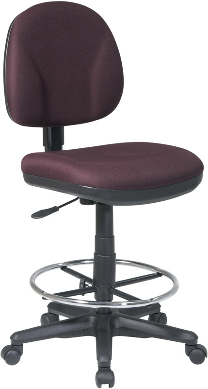 Work Smart Armless Drafting Chair With Adjustable Footring And Casters DC630