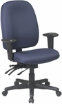 Work Smart Dual Function Ergonomic Chair with Seat Slider and Lumbar Support [43998-FS-OS]