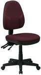 Work Smart Dual Function Ergonomic Fabric Task Chair with Back and Seat Height Adjustment [36420-FS-OS]