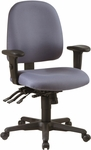 Work Smart Multi Function Ergonomic Seat Chair with Ratchet Back and Multi-Function Control [43808-FS-OS]