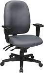 Work Smart Ergonomic High Back Chair with Ratchet Back Adjustment [43819-FS-OS]