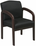 Work Smart Thick Padded Visitors Chair with Lumbar Support - Espresso [WD388-FS-OS]
