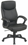 Work Smart Executive High-Back Eco-Leather Chair with Contrasting Stitch Pattern and Casters [EC6582-FS-OS]