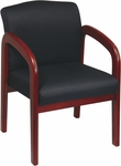 Work Smart Thick Padded Executive Visitors Chair with Lumbar Support - Cherry [WD387-FS-OS]