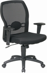 Work Smart Woven Mesh Back Office Chair with Mesh Seat - Black [599302-FS-OS]