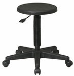 Work Smart Self-Skinned Urethane Seat Intermediate Stool with Adjustable Seat Height - Black [KH503-FS-OS]