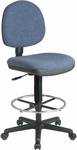 Work Smart Lumbar Support Chair with Adjustable Seat Height and Foot Rest [DC640-FS-OS]