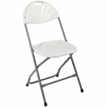 Work Smart Plastic Folding Chair - Set of 4 - Grey [PC-54-OS]