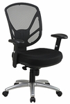 Work Smart Screen Back 2-to-1 Synchro Tilt Chair with Height Adjustable Seat and Casters [S2721-3-FS-OS]