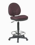 Work Smart Sculptured Seat and Back Drafting Chair with Lumbar Support and Adjustable Seat Height [DC550-FS-OS]
