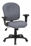 Work Smart Sculptured Task Chair with Adjustable Arms and Casters [SC66-FS-OS]
