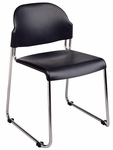 Work Smart Stack Chair with Plastic Seat and Back and Chrome Frame - Set of 2 [STC3230-3-OS]