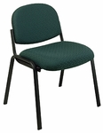 Work Smart Armless Visitors Chair with Steel Frame and Legs [EX31-FS-OS]