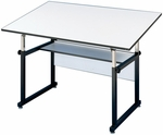 Black WorkMaster Drawing Table - 36''D x 48''W [WM48-3-XB-FS-ALV]